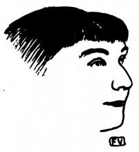 "Копия картины ""Portrait of French writer Rachilde"" художника ""Валлотон Феликс"""