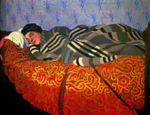 """Картина """"Laid down woman, sleeping"""" художника """"Валлотон Феликс"""""""