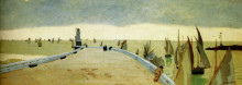 """Репродукция картины """"The pier of Honfleur"""" художника """"Валлотон Феликс"""""""