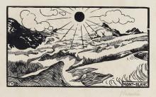 """Копия картины """"Mont Blanc"""" художника """"Валлотон Феликс"""""""