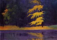 "Копия картины ""The Lake in the Bois de Boulogne"" художника ""Валлотон Феликс"""