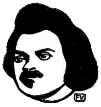 """Репродукция картины """"French writer Honoré de Balzac"""" художника """"Валлотон Феликс"""""""
