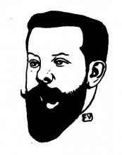 "Копия картины ""Portrait of French poet Pierre Quillard"" художника ""Валлотон Феликс"""