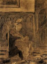 "Копия картины ""Old Woman Asleep after Rops"" художника ""Ван Гог Винсент"""
