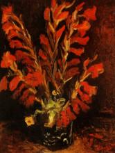 """Картина """"vase with red gladioli"""" художника """"ван гог винсент"""""""