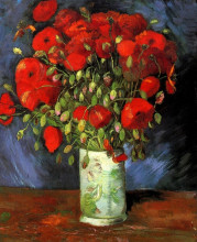 """Картина """"Vase with Red Poppies"""" художника """"Ван Гог Винсент"""""""