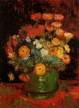 """Картина """"vase with zinnias"""" художника """"ван гог винсент"""""""