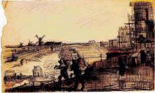 "Копия картины ""view of montmartre"" художника ""ван гог винсент"""