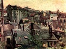 """Картина """"view of roofs and backs of houses"""" художника """"ван гог винсент"""""""