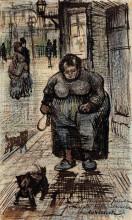 "Копия картины ""Woman Walking Her Dog"" художника ""Ван Гог Винсент"""