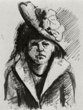 """Картина """"Woman with Hat, Half-Length"""" художника """"Ван Гог Винсент"""""""