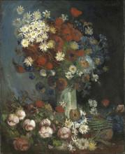 """Картина """"still life with meadow flowers and roses"""" художника """"ван гог винсент"""""""