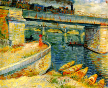 """Репродукция картины """"bridges across the seine at asnieres"""" художника """"ван гог винсент"""""""