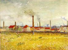 "Картина ""Factories at Asnieres, Seen from the Quai de Clichy"" художника ""Ван Гог Винсент"""