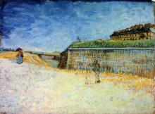 """Картина """"fortifications of paris with houses"""" художника """"ван гог винсент"""""""