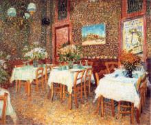 """Репродукция картины """"interior of a restaurant"""" художника """"ван гог винсент"""""""