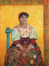 "Картина ""italian woman (agostina segatori)"" художника ""ван гог винсент"""