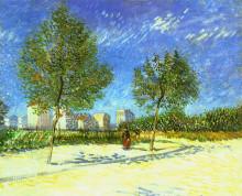 "Картина ""on the outskirts of paris"" художника ""ван гог винсент"""