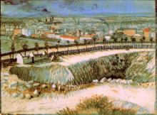"""Репродукция картины """"Outskirts of Paris near Montmartre"""" художника """"Ван Гог Винсент"""""""
