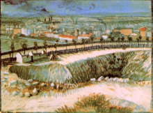 "Копия картины ""outskirts of paris near montmartre"" художника ""ван гог винсент"""