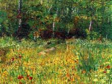 """Копия картины """"park at asnieres in spring"""" художника """"ван гог винсент"""""""