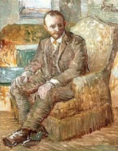 "Картина ""Portrait of the Art Dealer Alexander Reid, Sitting in an Easy Chair"" художника ""Ван Гог Винсент"""