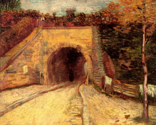 "Репродукция картины ""roadway with underpass the viaduct"" художника ""ван гог винсент"""