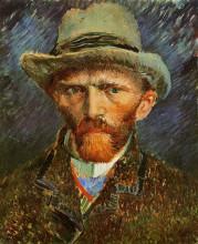 """Репродукция картины """"Self Portrait with a Grey Felt Hat"""" художника """"Ван Гог Винсент"""""""