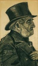 "Копия картины ""an almshouse man in a top hat"" художника ""ван гог винсент"""