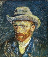 """Копия картины """"self portrait with felt hat"""" художника """"ван гог винсент"""""""