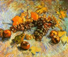 "Репродукция картины ""Still Life with Apples, Pears, Lemons and Grapes"" художника ""Ван Гог Винсент"""