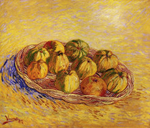 "Картина ""Still Life with Basket of Apples"" художника ""Ван Гог Винсент"""