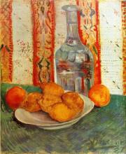"Репродукция картины ""still life with decanter and lemons on a plate"" художника ""ван гог винсент"""