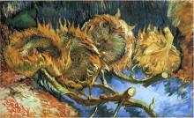 "Картина ""still life with four sunflowers"" художника ""ван гог винсент"""