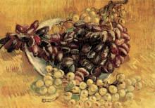 """Репродукция картины """"still life with grapes"""" художника """"ван гог винсент"""""""