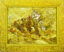 "Копия картины ""still life with grapes,pears and lemons"" художника ""ван гог винсент"""