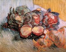 "Репродукция картины ""Still Life with Red Cabbages and Onions"" художника ""Ван Гог Винсент"""