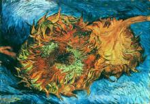 "Репродукция картины ""Still Life with Two Sunflowers"" художника ""Ван Гог Винсент"""