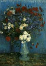 "Картина ""Still Life: Vase with Cornflowers and Poppies"" художника ""Ван Гог Винсент"""