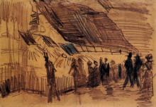 "Репродукция картины ""Strollers and Onlookers at a Place of Entertainment"" художника ""Ван Гог Винсент"""