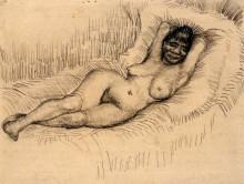 "Копия картины ""study for reclining female nude"" художника ""ван гог винсент"""
