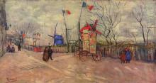"Картина ""The Allotments at Montmartre"" художника ""Ван Гог Винсент"""