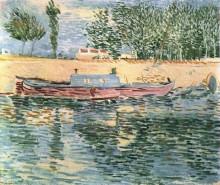 "Репродукция картины ""the banks of the seine with boats"" художника ""ван гог винсент"""