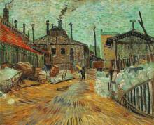 "Картина ""The Factory at Asnieres"" художника ""Ван Гог Винсент"""