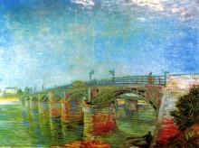 """Репродукция картины """"The Seine Bridge at Asnieres"""" художника """"Ван Гог Винсент"""""""