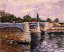 "Копия картины ""the seine with the pont de la grande jette"" художника ""ван гог винсент"""