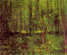 "Репродукция картины ""Trees and Undergrowth"" художника ""Ван Гог Винсент"""