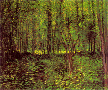 """Копия картины """"trees and undergrowth"""" художника """"ван гог винсент"""""""