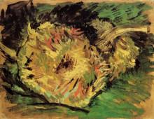 "Репродукция картины ""two cut sunflowers"" художника ""ван гог винсент"""