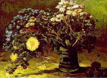 """Репродукция картины """"vase with daisies"""" художника """"ван гог винсент"""""""